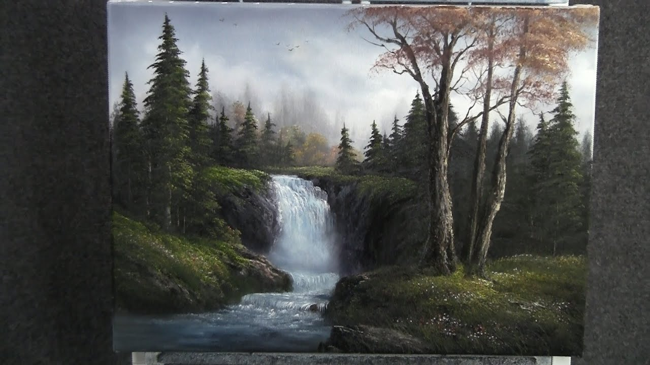American Wallpaper Fall River Paint With Kevin Hill Sparkling Waterfall Youtube