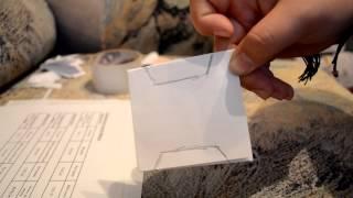Как делать бобины для намотки ниток. Видео урок.