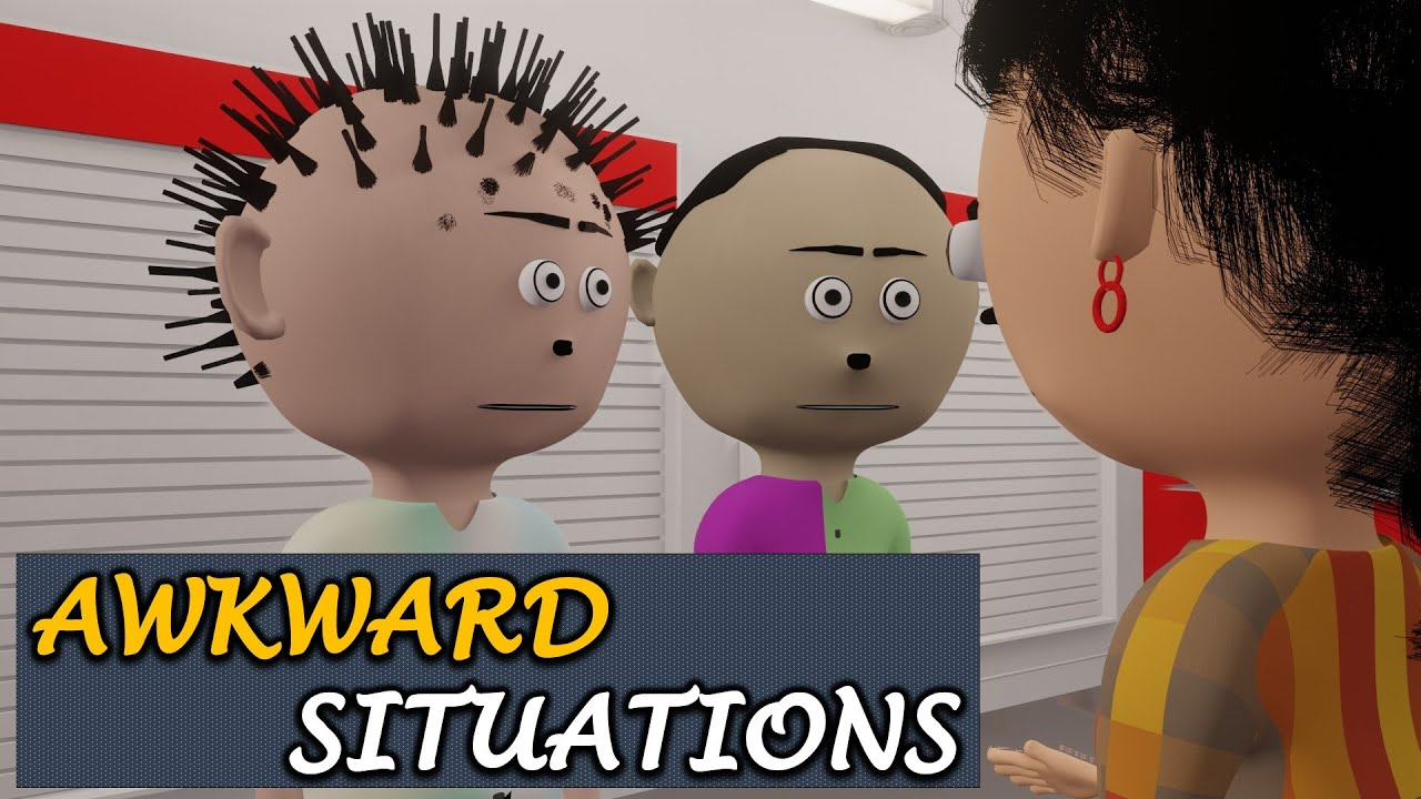 AWKWARD SITUATIONS | Let's Smile | Cartoon Comedy | Embarassing and Funny