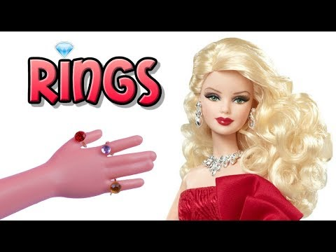 DIY Miniature Barbie Doll Rings Jewelry 💎 How to Make Dollhouse, Barbie, MLP, LPS Crafts & Stuff
