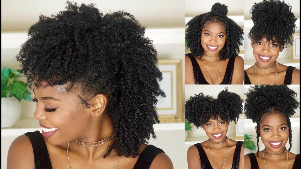 6 Easy Back To School Hairstyles For Natural Hair - YouTube