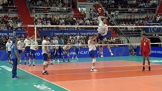 Волейбол Нападающий удар Сборные России vs Кубы 3