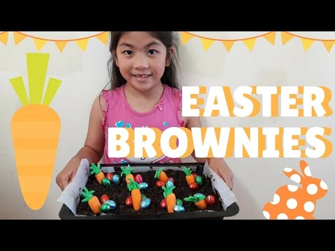 Baking With Klarion | Quick And Easy Easter Baking For Kids | Carrot Patch Brownies