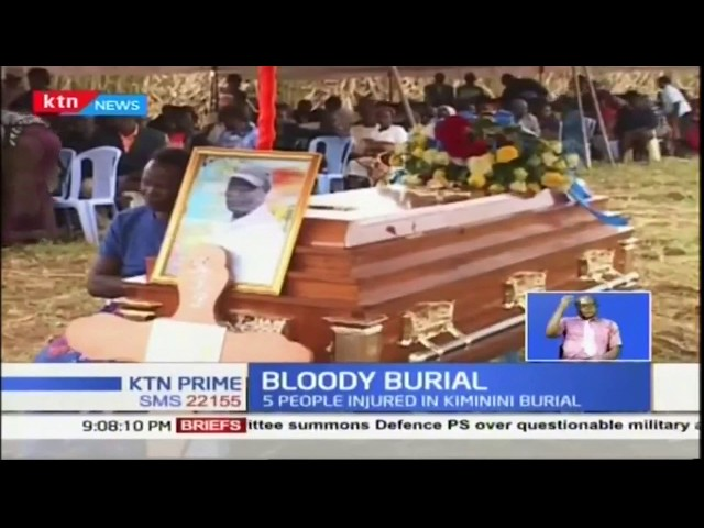 5 people have sustained bullet injuries after chaos erupted during the burial of slain driver
