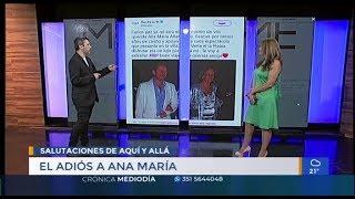 Ana María Alfaro: el adiós en las redes