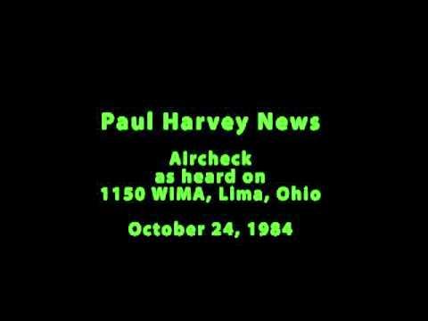 Paul Harvey News Oct 24 1984 aircheck