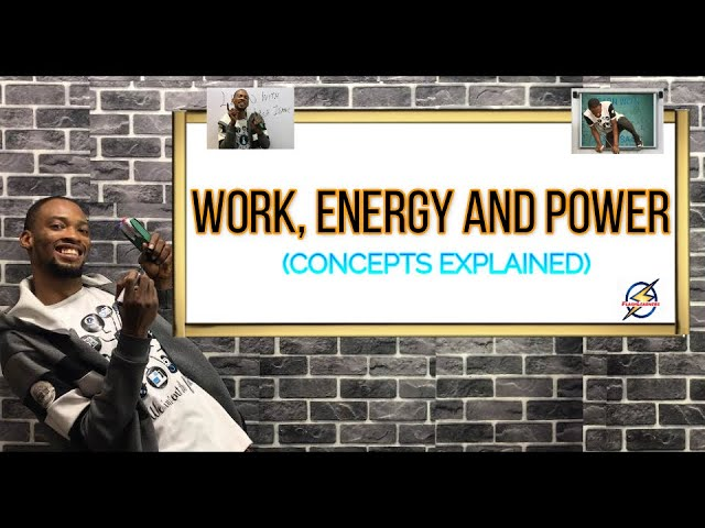 Concept of Work, Energy And Power (Explained)