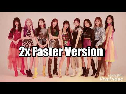 """TWICE """"YES OR YES"""" 2x Faster"""
