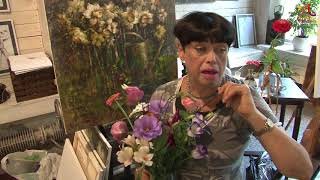 Видео урок живописи - Любимый уголок старинного сада