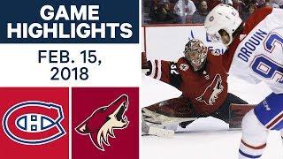 NHL Game Highlights   Canadiens vs. Coyotes - Feb. 15, 2018