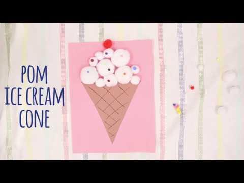 How to Make a Pom Ice Cream Cone