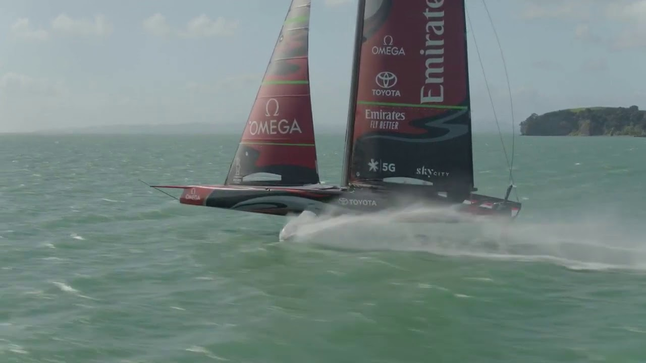 Spend 2 minutes in AWE with America's Cup Emirates Team News Zealand AC75 Te Aihe