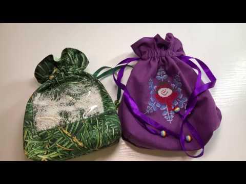 Шьем новогодний мешок для подарков своими руками!