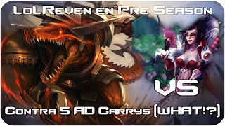 RENEKTON vs 5 AD CARRIES (WHAT!?) - MASTER 291P