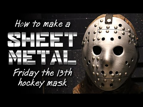 """How to Make a """"Sheet Metal"""" Jason Mask - Friday the 13th DIY Tutorial"""