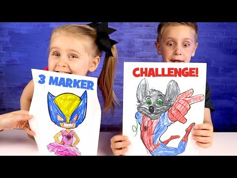b46be79995ea0 3 Marker Challenge with Spider-Man, Chuck E Cheese and Avengers Infinity  War! - YouTube