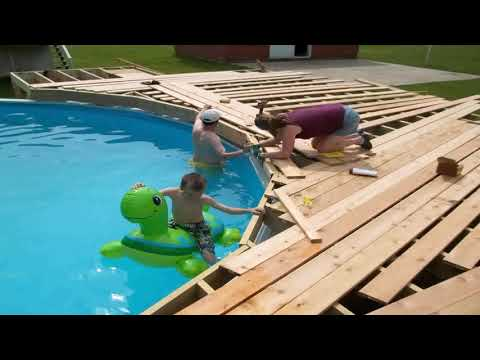 Above Ground Pool Deck Kit Wood Gif Maker - DaddyGif.com
