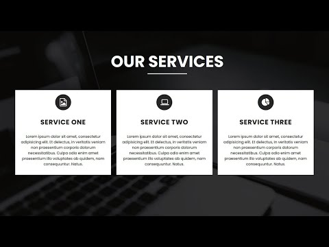 Responsive Services Section Design Using HTML And CSS