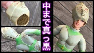 汚すぎw 【ブルマァク ミラーマンを復活させよ!】ジャンクソフビを修理してみました。★ブルマァク 当時物 メンテナンス  ultraman  toys collection