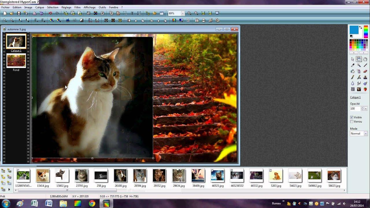 Faire un effet fondu avec photofiltre youtube for Effet miroir photofiltre