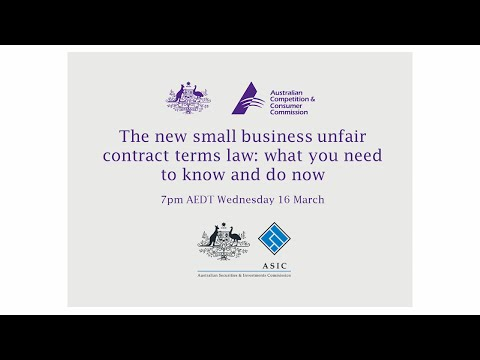 New unfair contract terms law to protect small business