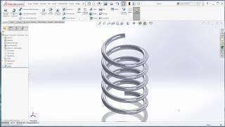 SolidWorks Katı Modelleme Örnek 7-Süpürerek Katı Oluşturma-YAY / How to make spring in solidworks?