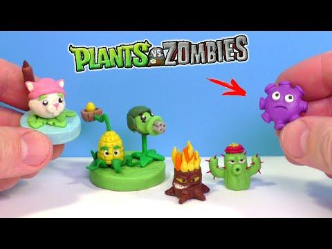Лепим РАСТЕНИЯ из игры Растения против Зомби Часть 2   Plants vs Zombies