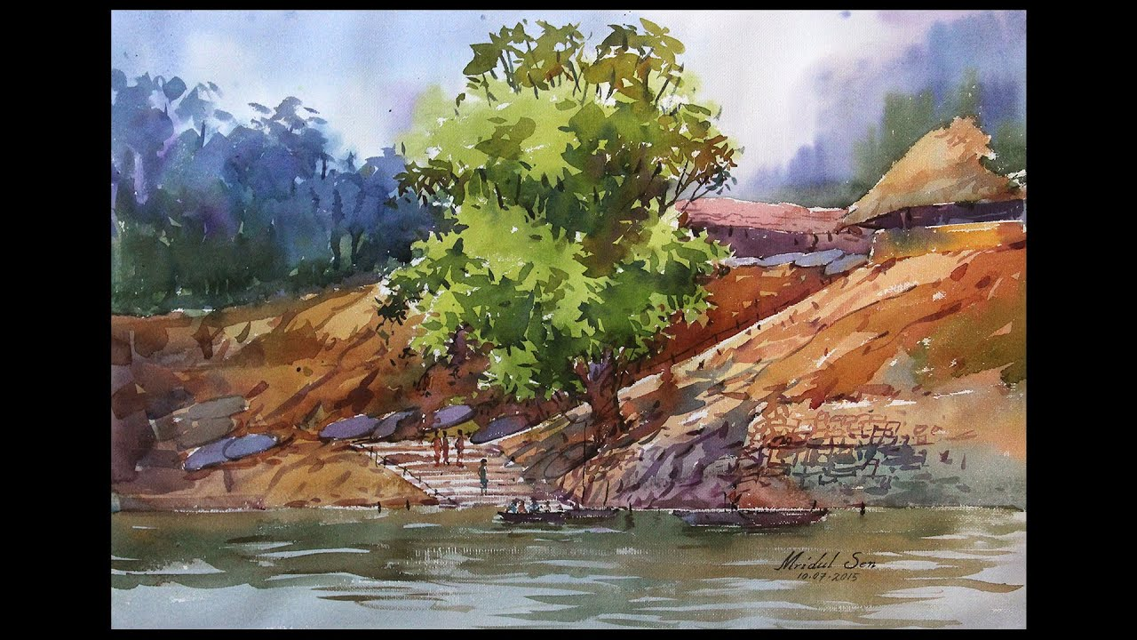 Watercolor Landscape Tutorial | How to paint a watercolor ...