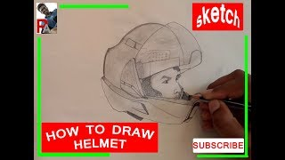 How to draw BIKE HELMET (BASIC)