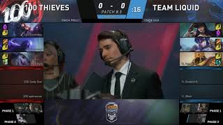 [VOD Reviews] TeamLiquid vs 100Thieves NALCS Spring Finals Games 1&2&3 ft. CroissantLoL