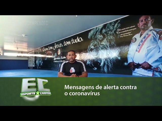 Mensagens de alerta contra o coronavírus