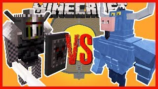 Minecraft - THE DARK KNIGHT VS THE IRON WILL (THE ARCANE MOD GOES AGAINST THE MYTHICAL CREATURES)