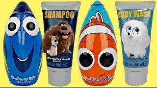 Finding Dory & Secret Life of Pets Soap Scrub & Bath Tub Sets