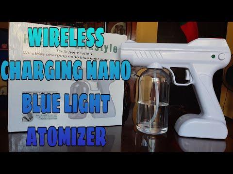 WIRELESS CHARGING NANO BLUE LIGHT ATOMIZER | UNBOXING |JULIE JAZMIN