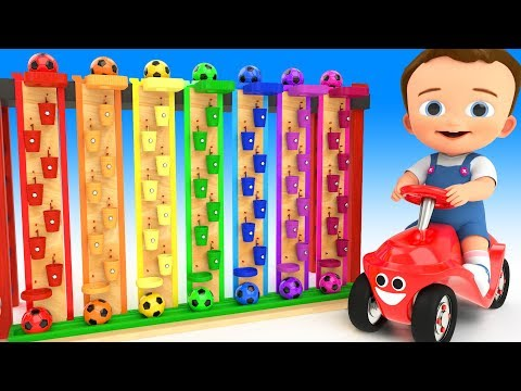 Thumbnail: Learn Colors for Children with Baby Play SoccerBalls Wooden Toy Set Fun World 3D Kids Educational