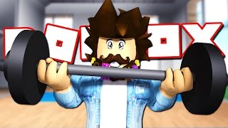 JOEY GOES TO THE GYM IN ROBLOX!