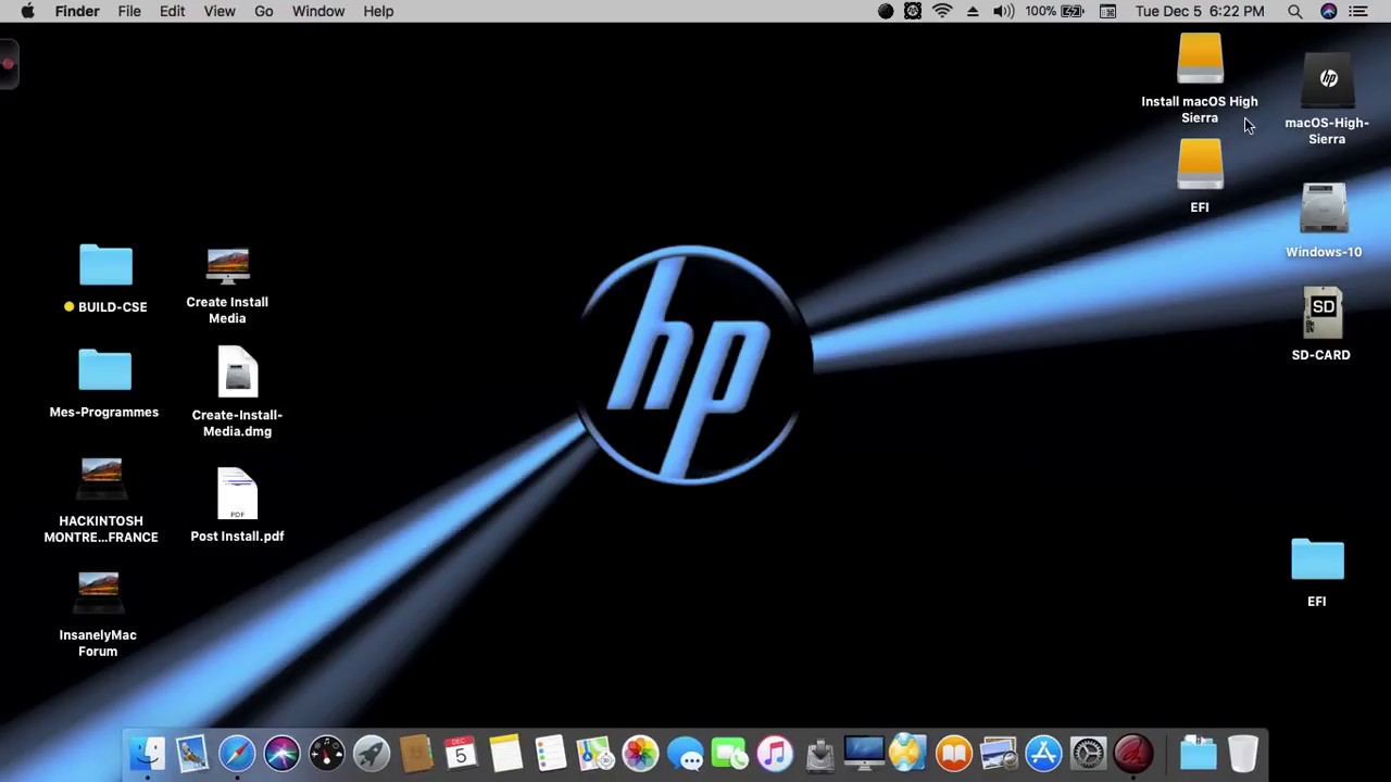 macOS High Sierra et macOS Sierra HP Probook 4530S, 4440S, 4540S