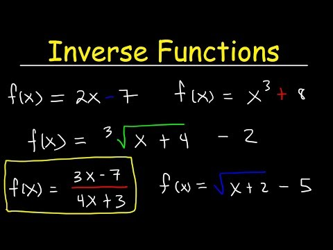 How To Find The Inverse Of A Function