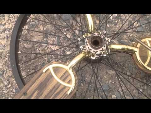 bicycle rim windmill with ceiling fan propellers