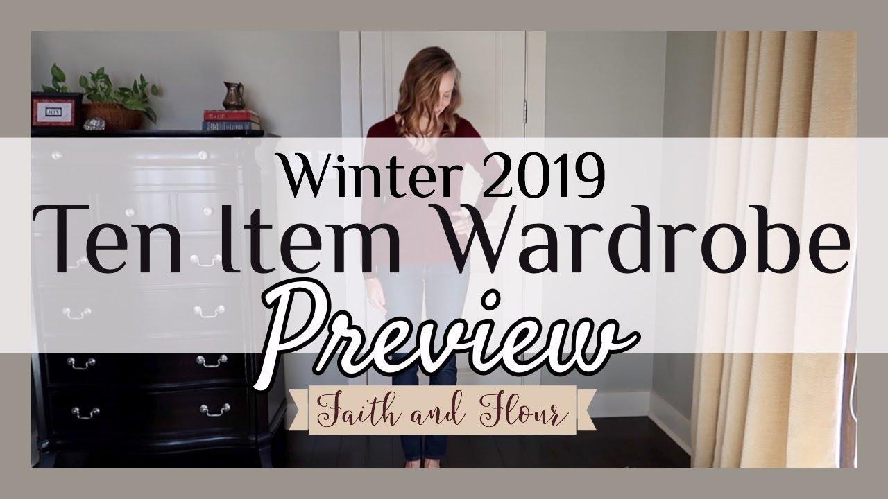 [VIDEO] - Ten Item Wardrobe Winter 2019 Preview | Capsule Wardrobe | Madame Chic Method 1