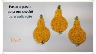 Step by step pear crochet for application