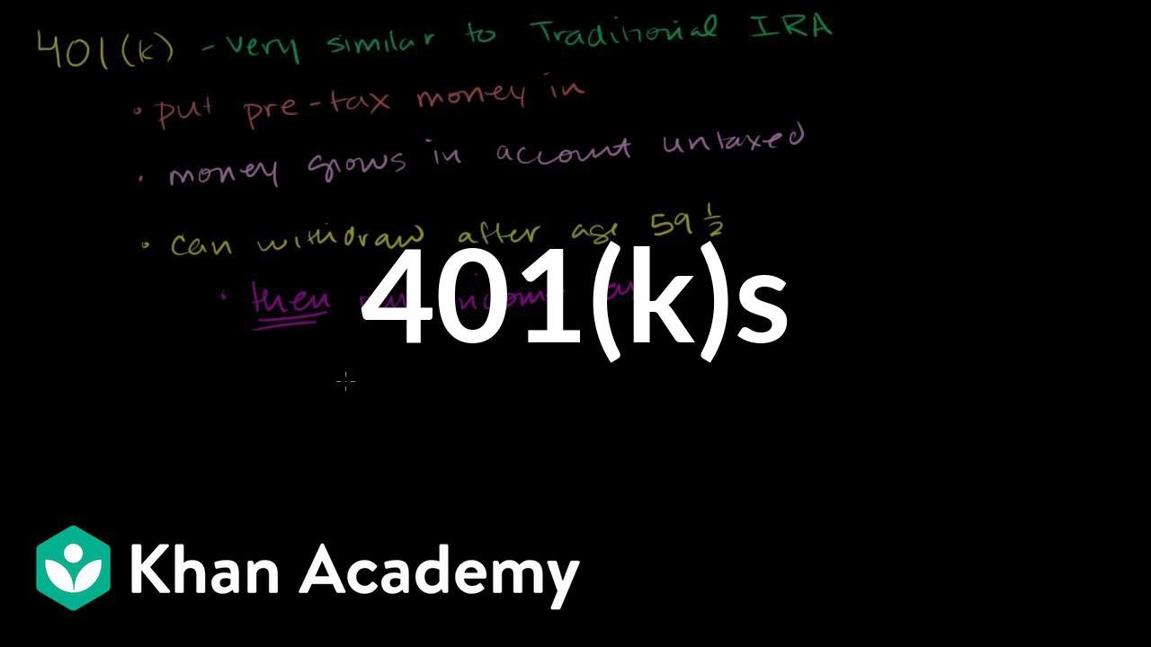 401(k)s | Finance & Capital Markets | Khan Academy