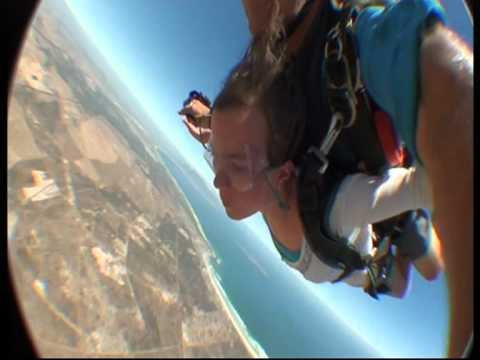 Awesome skydive by 11 year old girl in South Africa - Cape Town