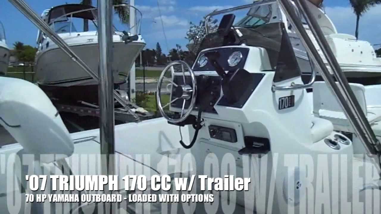 2007 triumph 170 cc for saleboats international - youtube