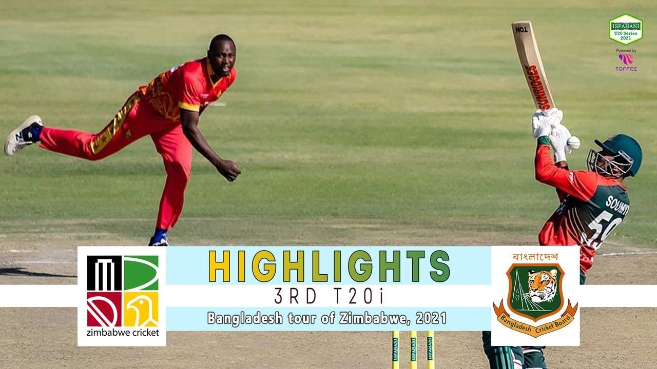 Download Zimbabwe vs Bangladesh Highlights | 3rd T20i | Bangladesh tour of Zimbabwe 2021
