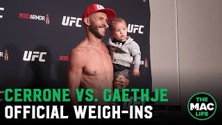 UFC Vancouver Official Weigh-Ins: Main Card