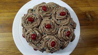Dark chocolate cake/চুলায় তৈরি ডার্ক চকোলেট কেক রেসিপি/Birthday Chocolate Cake