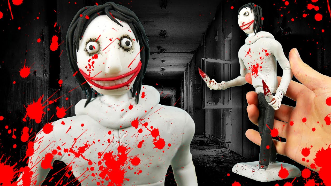 Making JEFF THE KILLER in Polymer Clay!🔪