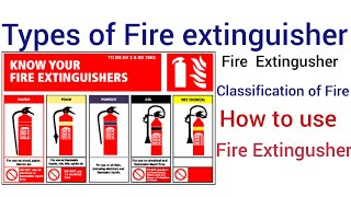 Fire Extingusher /Types of #Fire extinguisher / Classification/Types of fire in Hindi Fire triangle
