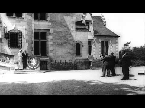 Duke of Windsor Edward and Wallis Warfield Simpson on their wedding day and later...HD Stock Footage